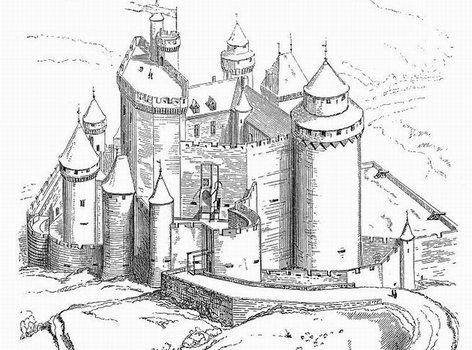 Le ch teau de bonaguil - Dessin chateau moyen age ...